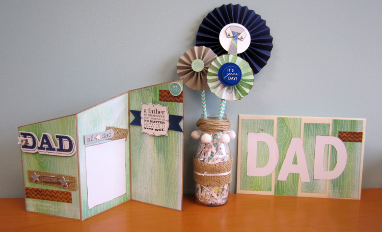 Father's Day Card - mambi blog (me & my BIG ideas) pinwheel tutorial with decorated envelope.  soft spoken