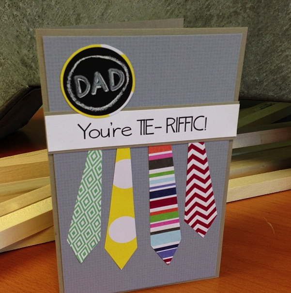mambi Pocket Pages card for Father's Day - you're TIE-RIFFIC  (me & my BIG ideas)  tie card