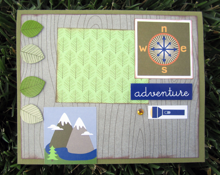 Summer Camp Cards - mambi - made from me & my BIG ideas camping scrapbook page kit
