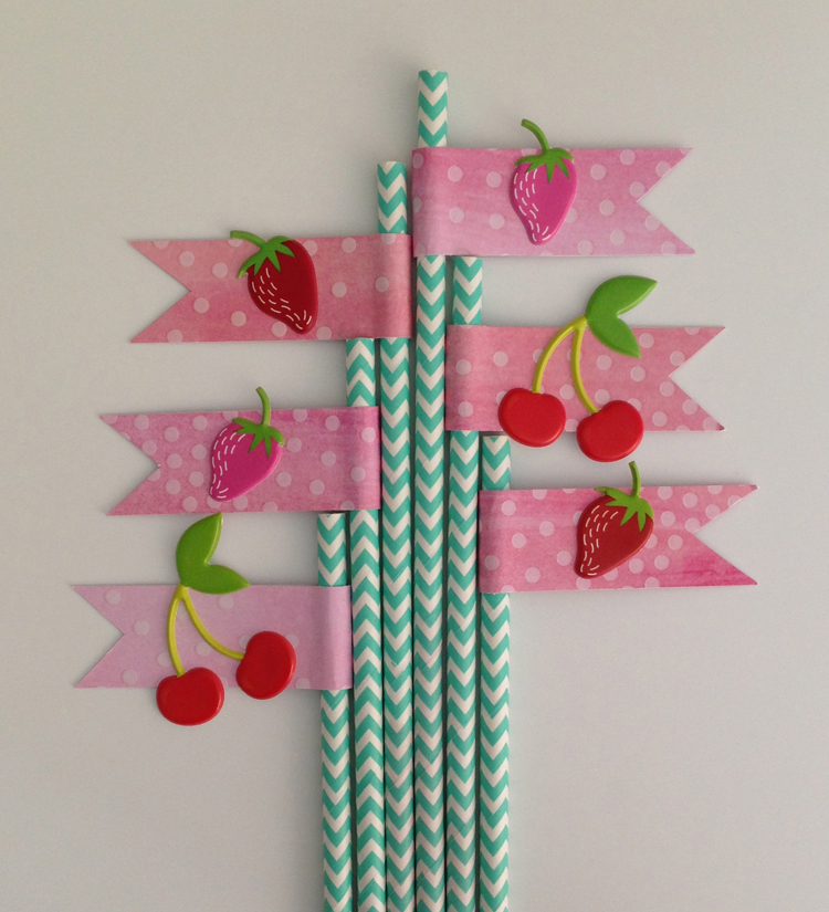 How to decorate paper straws or drink sticks with me & my BIG ideas paper and stickers