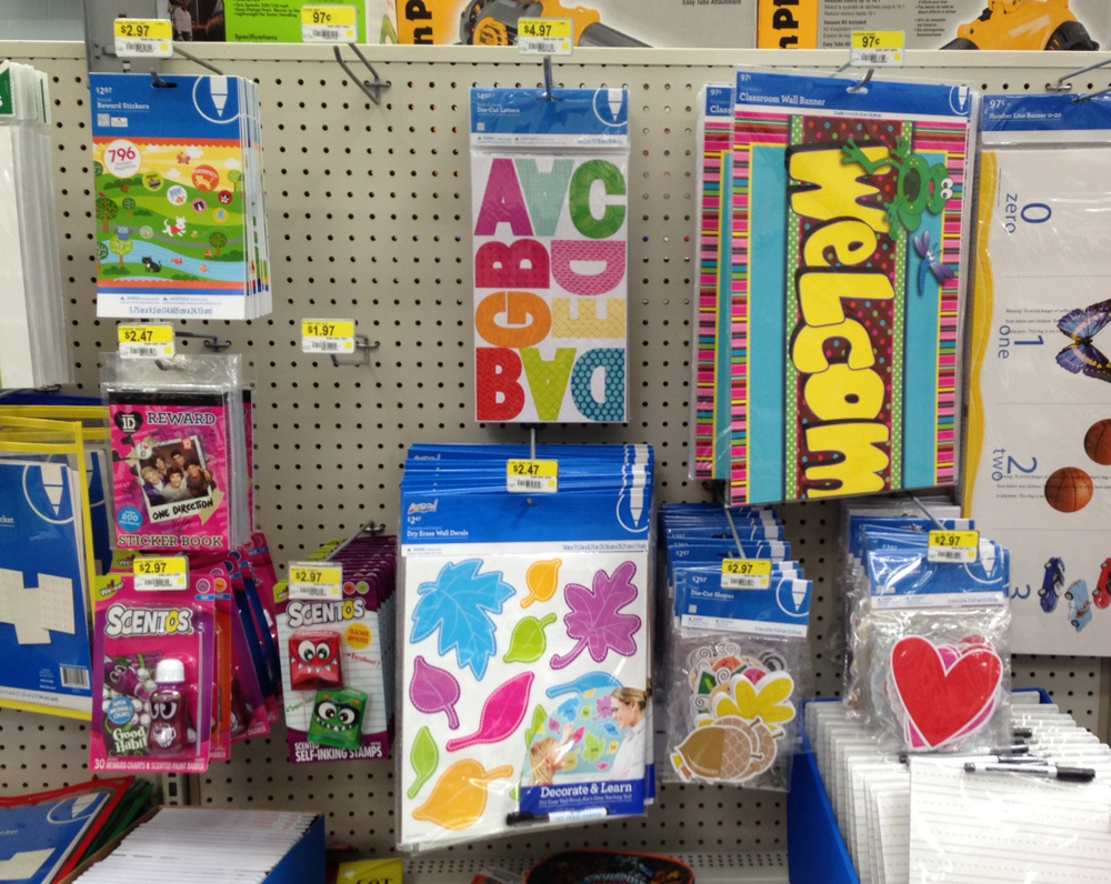 Wal-Mart School Supplies from me & my BIG ideas.  So exciting.  To meet your school supply needs!