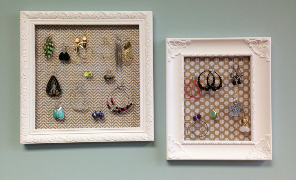 DIY tutorial Jewelry frame earring holder with me & my BIG idea paper.