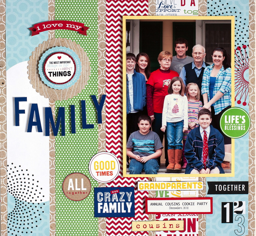 Family Scrapbook Layout Me My Big Ideas