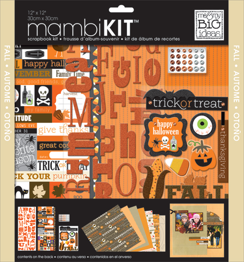 SRK-94 Halloween Fall mambi kit scrapbook page kit