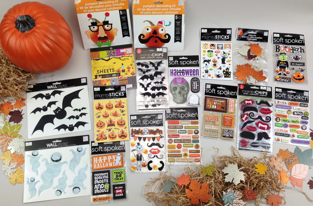 Michaels Halloween Items me & my BIG ideas scrapbooking craft holiday items
