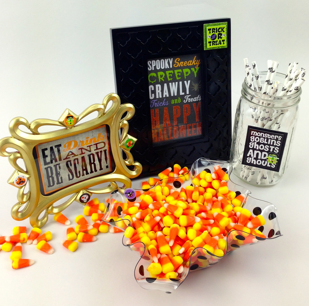 Halloween frames with mambi product available at Michaels Craft Stores.