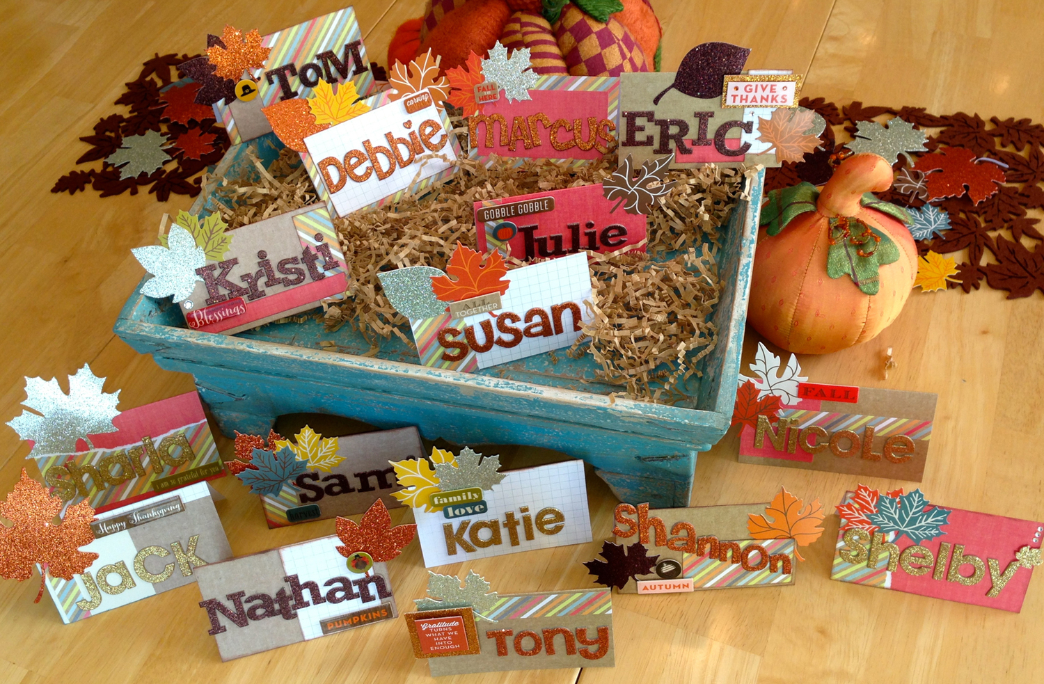 Diy Thanksgiving Place Cards Me My Big Ideas