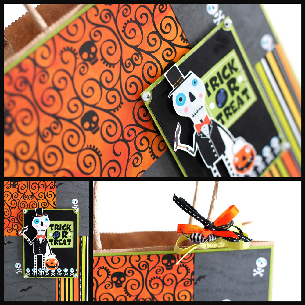 mambi Halloween Gift Bag.  DIY, such a cute papercraft.
