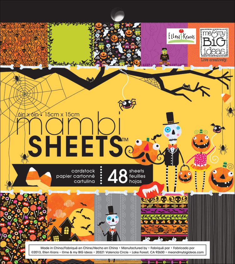 me & my BIG ideas Halloween Paper Pad.