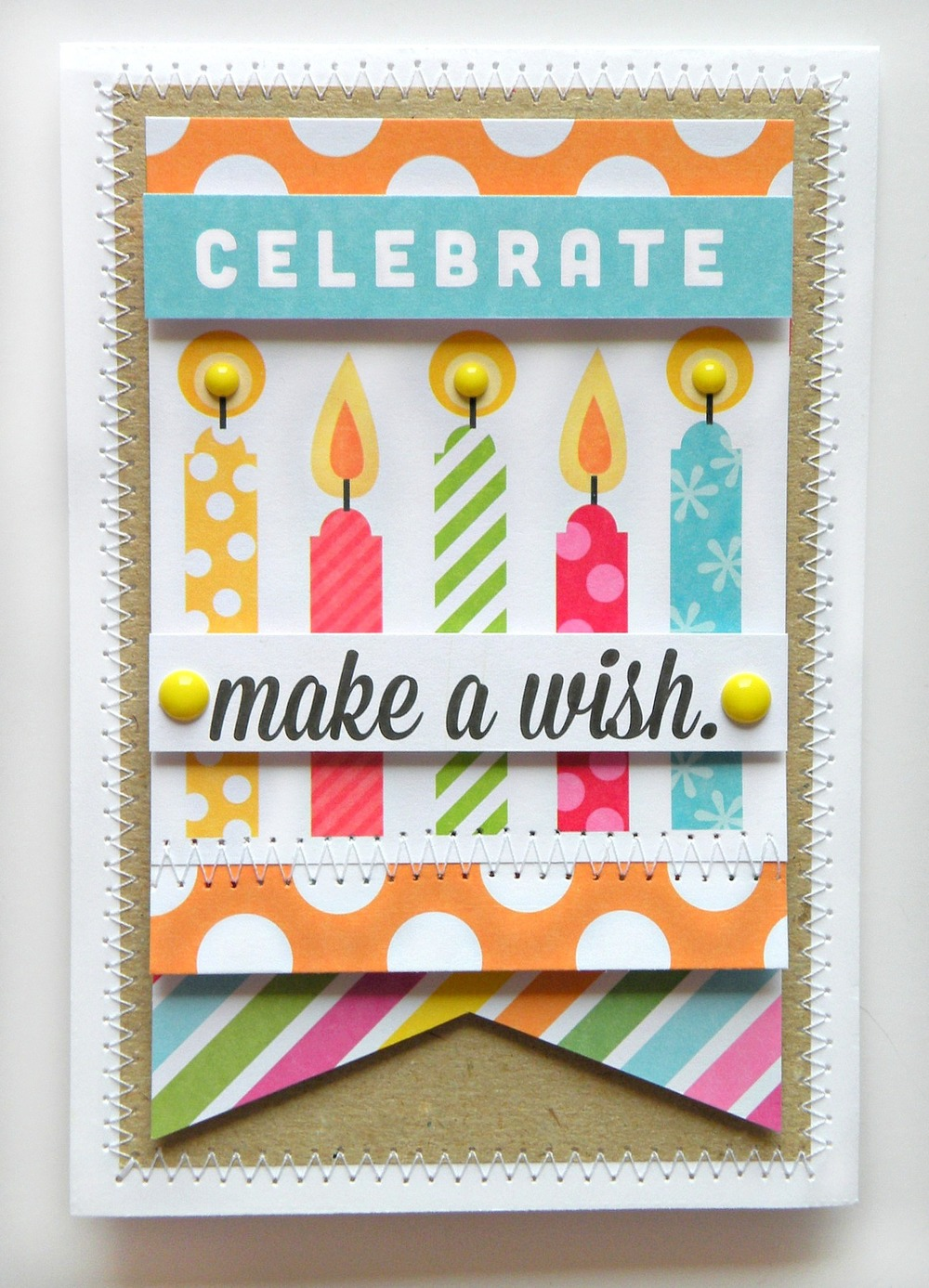 POCKET PAGES Birthday Card Using Mambi Items