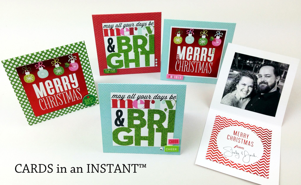 mambi CARDS in an INSTANT video tutorial on the me & my BIG ideas blog.  make 12 Christmas cards so quickly!