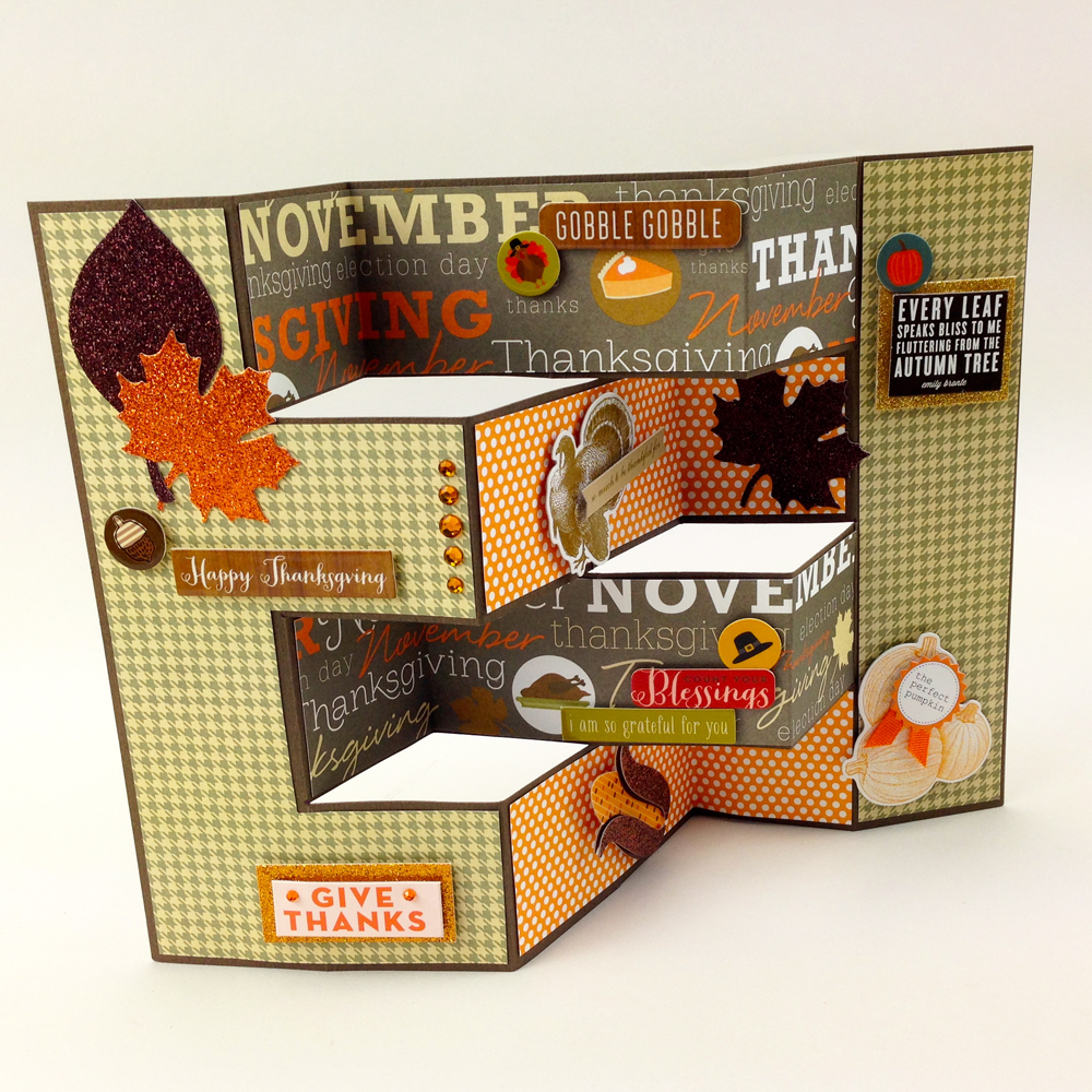 Halloween & Fall accordion card tutorial on the mambi blog.