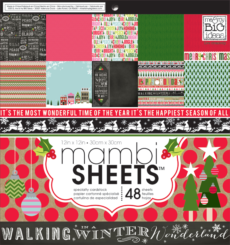 mambi SHEETS used for advent calendar.  Awesome Christmas Paper Pad!