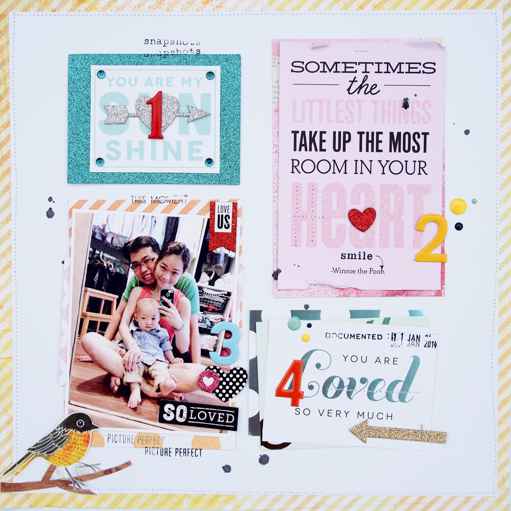 pocket pages so loved detailed shot.  mambi blog.  Scrapbook layout.