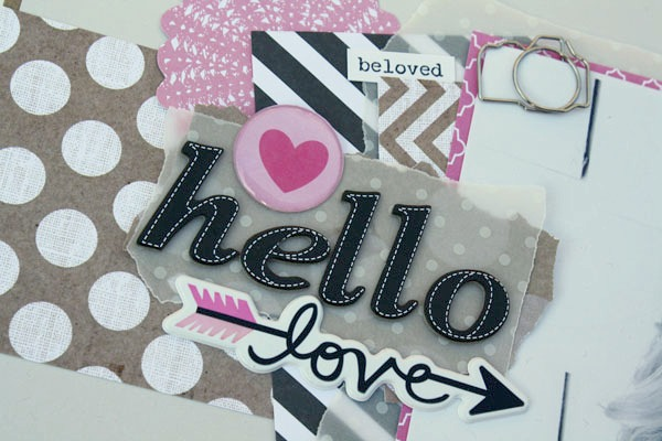 hello love scrapbook layout on mambi blog