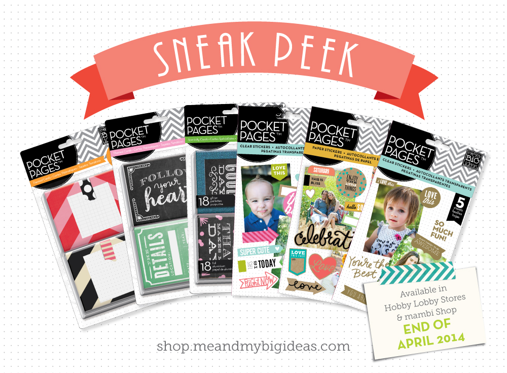 HBL mambi sneak peek of pocket pages coming to Hobby Lobby in April!