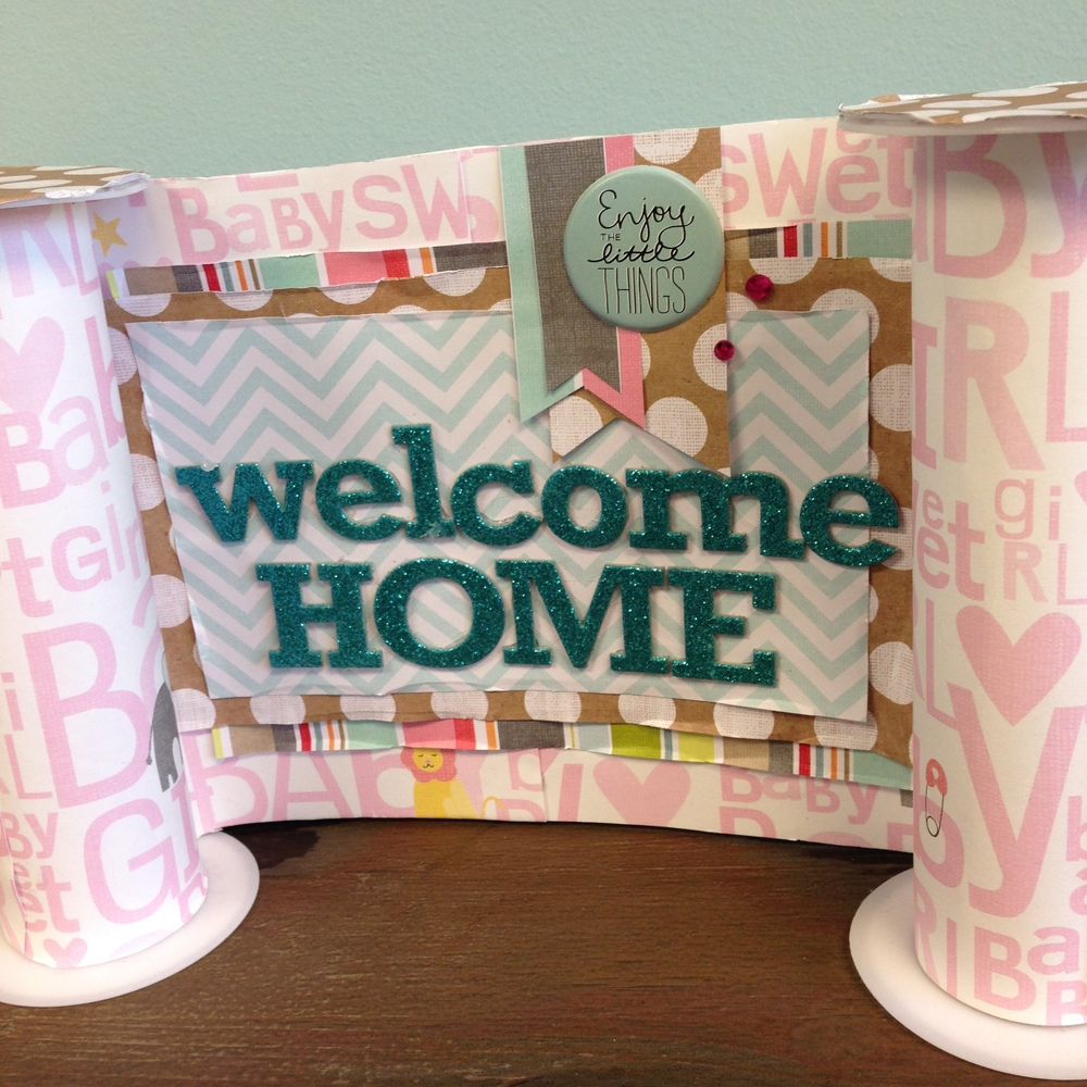 Welcome home baby banner me my big ideas for Baby welcome party decoration ideas