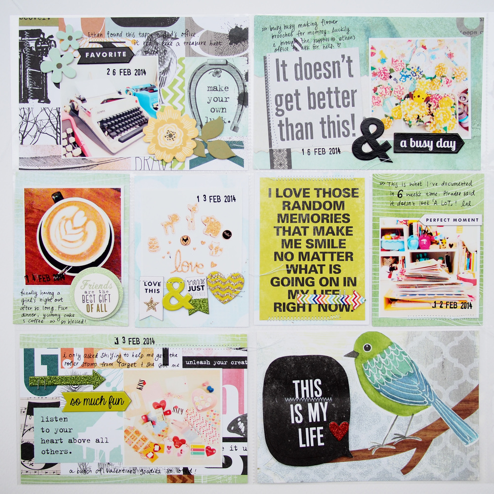 Green themed POCKET PAGES scrapbook page on the mambi blog.  me & my BIG ideas products and more.