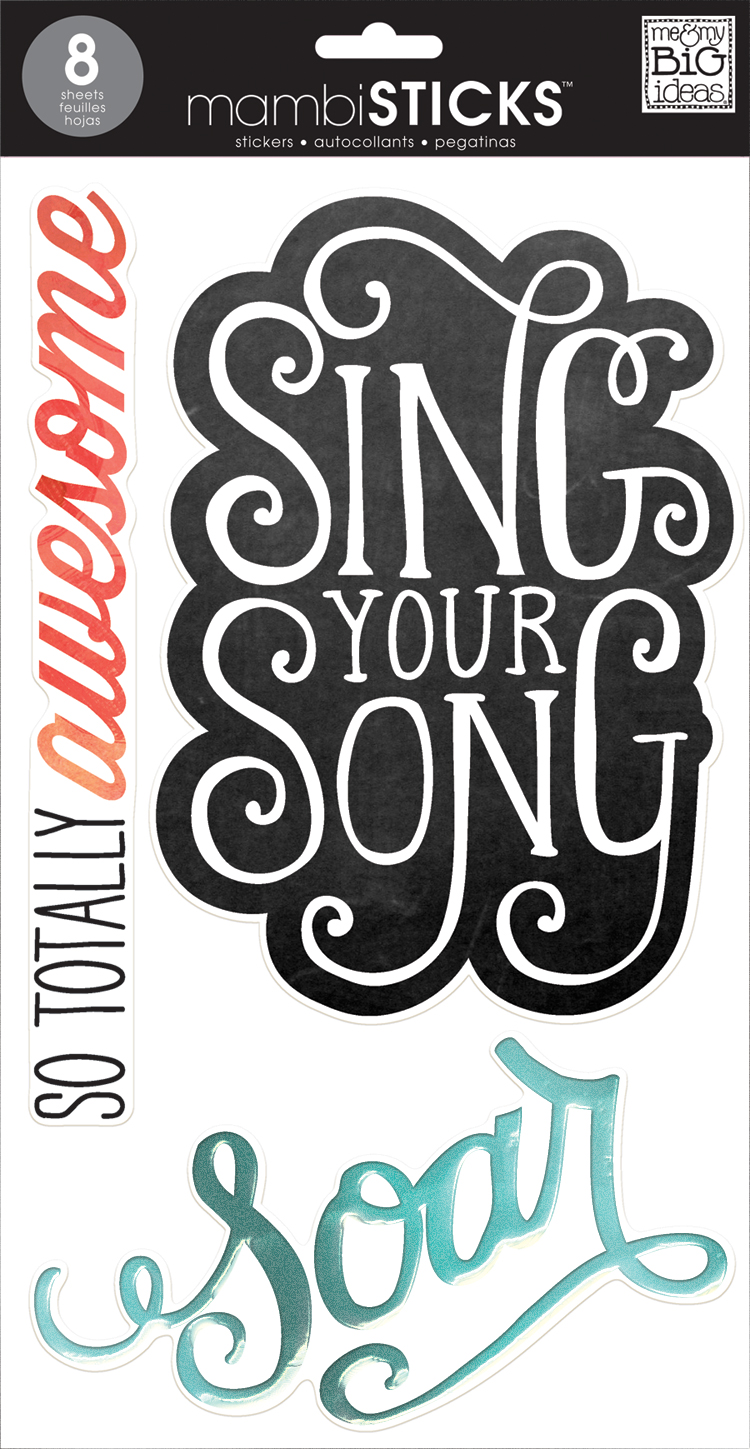 STL-44 Sing Your Song Jumbo Sticker pack now at Michaels.