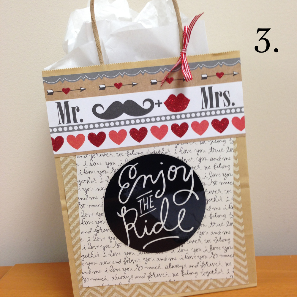 3. Enjoy the Ride jumbo sticker from me & my BIG ideas used to decorate a wedding gift, great DIY touch to any gift..jpg