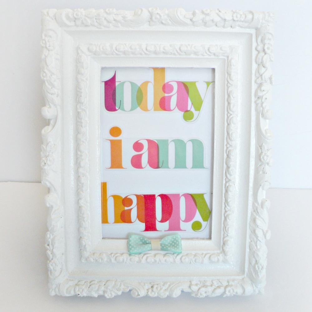 Today I am happy mambi sticker framed..jpg