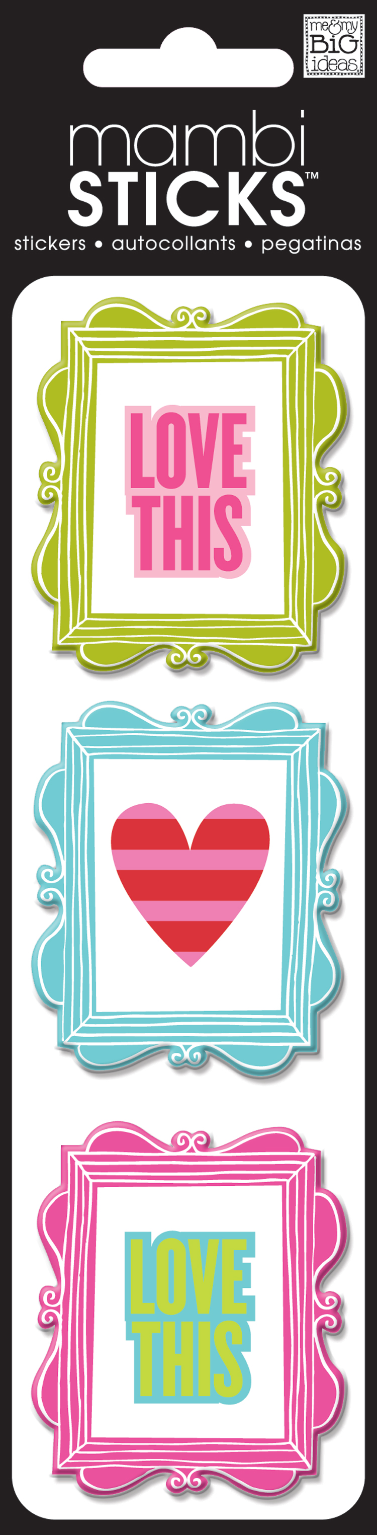 Puffy frame & sayings scrapbooking stickers. mambi blog.