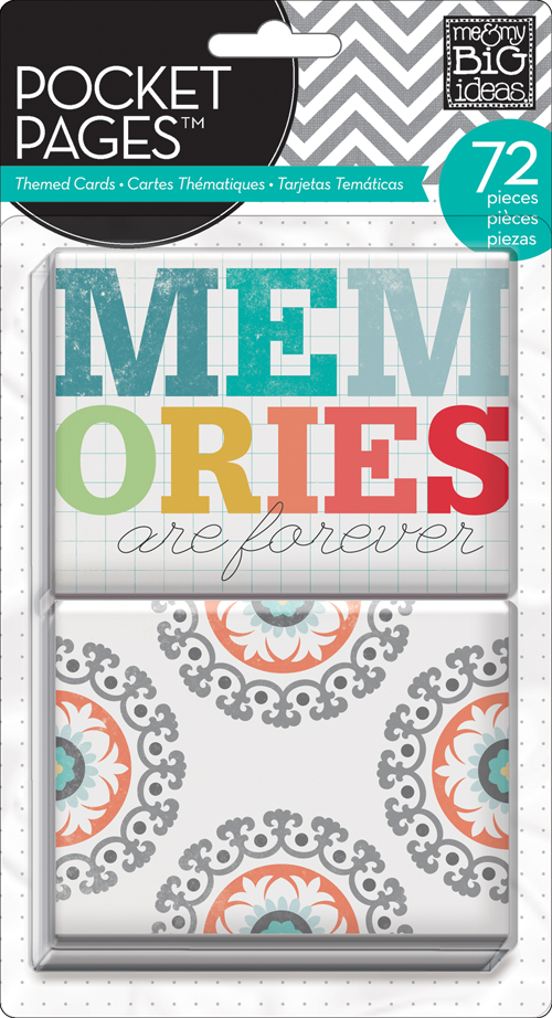 Memories POCKET PAGES on the mambi blog.  Pocket scrapbooking cards.