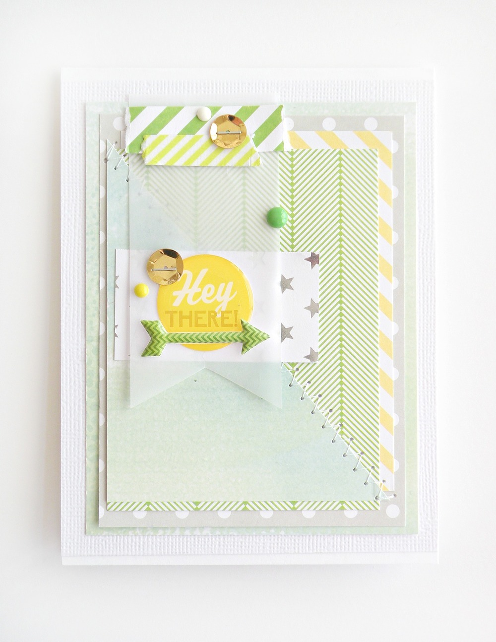 Handmade card on the mambi blog made with me & my BIG ideas goodies.