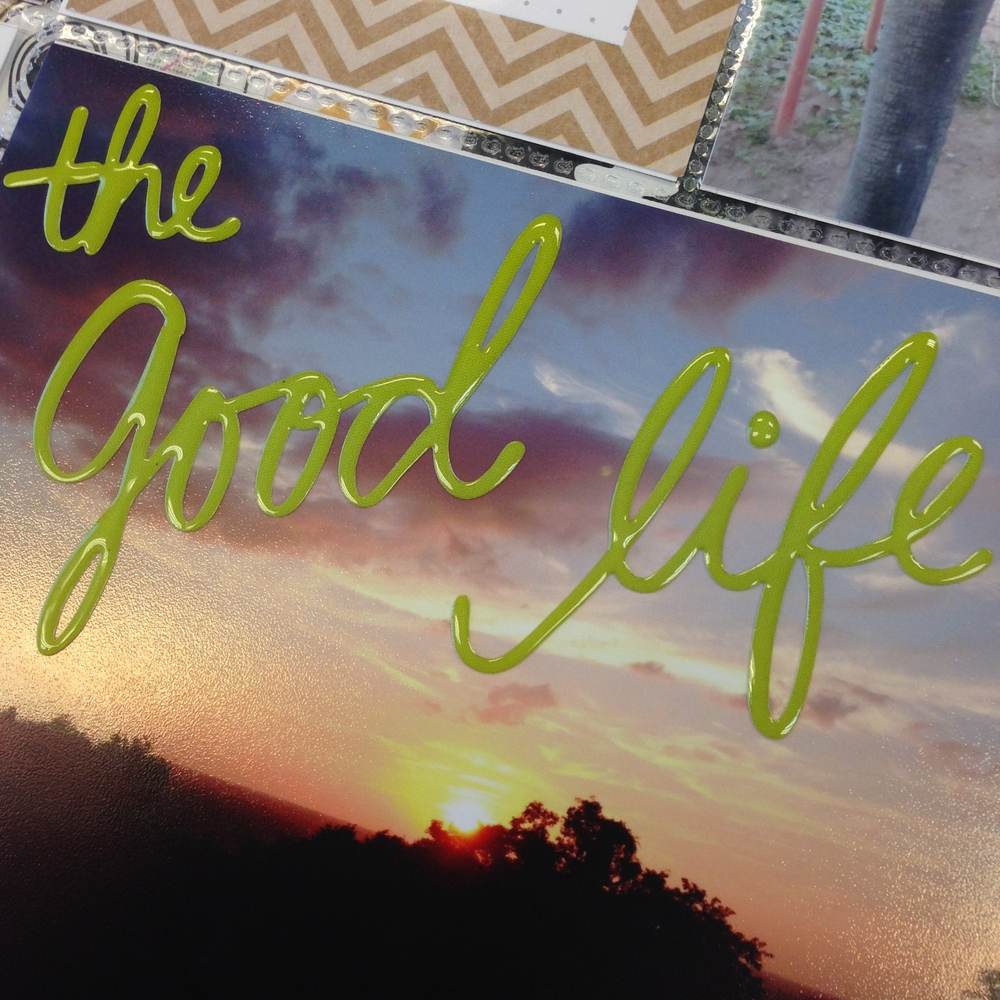 mambi:  The Good Life jelly word photo stickers.