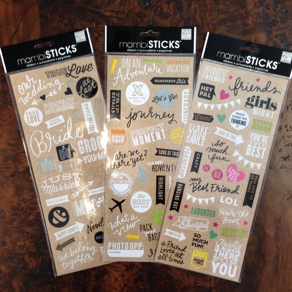 me & my BIG ideas:  stickers, perfect to put on photos!