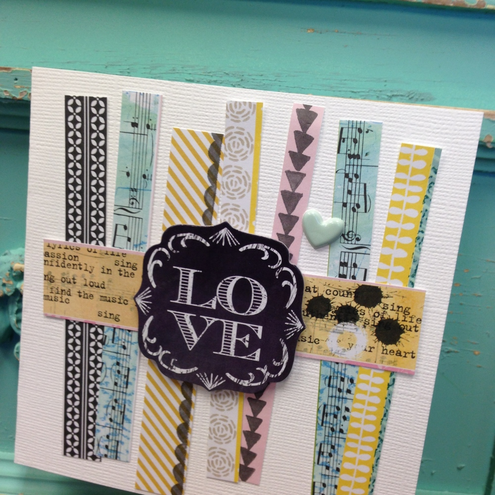 Love card with soft spoken.  Handmade card.