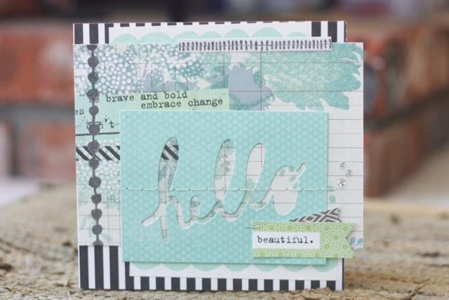 mambi:  Hello handmade scrapbook greeting card.