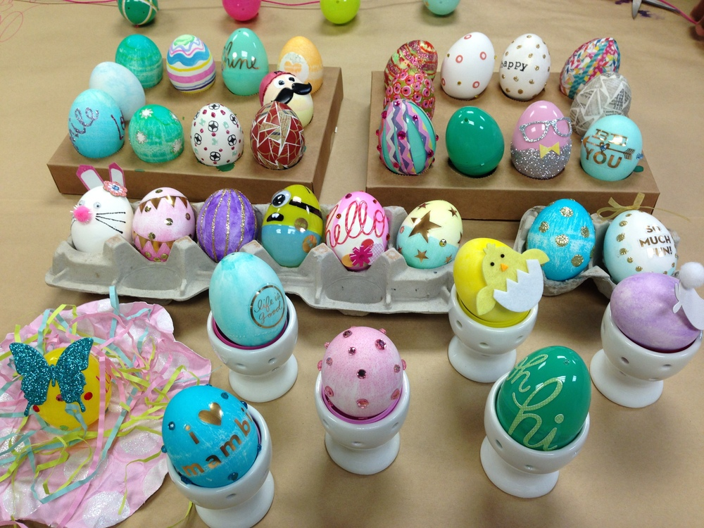 Mambi Egg Decorating Day Of Fun With Our Me My BIG Ideas Scrapbooking Products