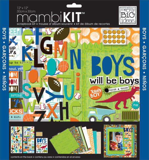 SRK-68 mambiKIT scrapbook page kit.  me & my BIG ideas Boys will be Boys.