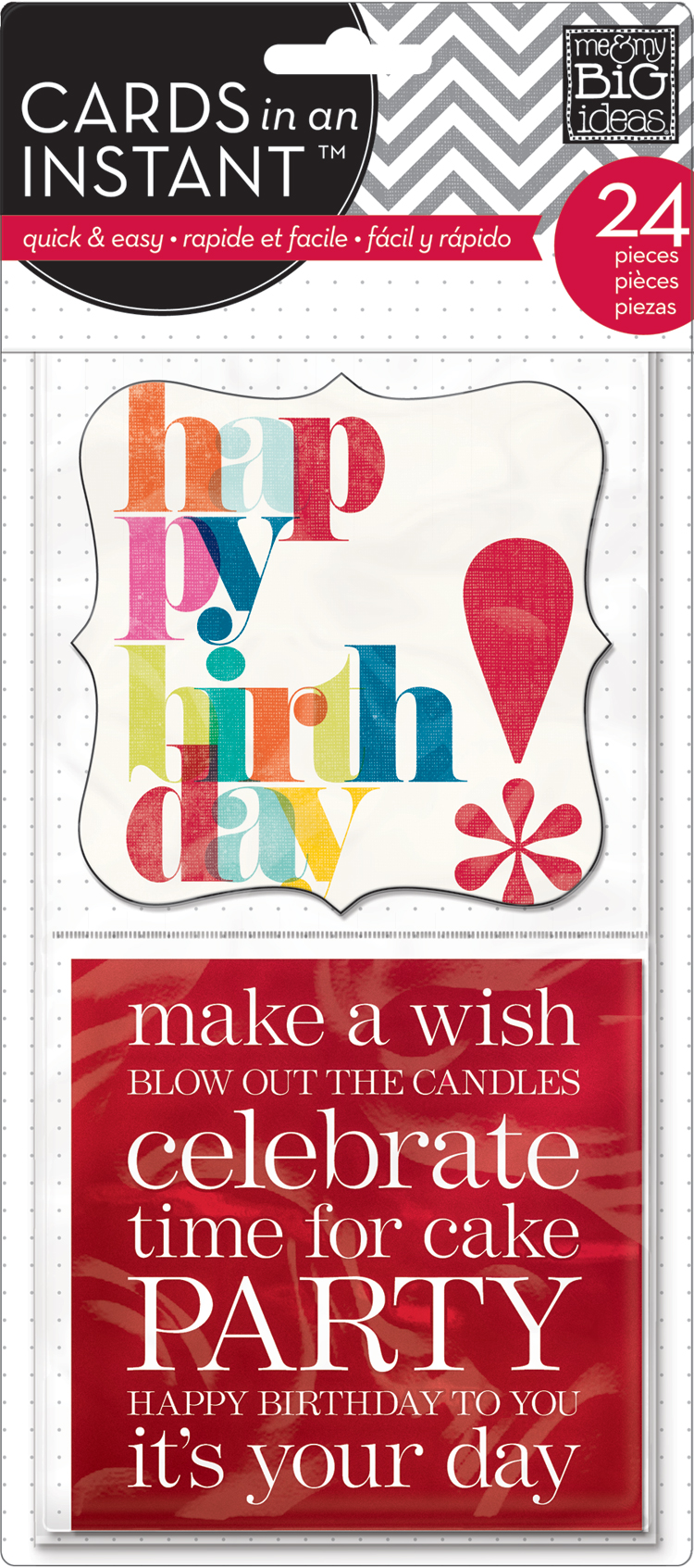 mambi:  CEM-14 Happy Birthday CARDS in an INSTANT™ cards for pocket pages.