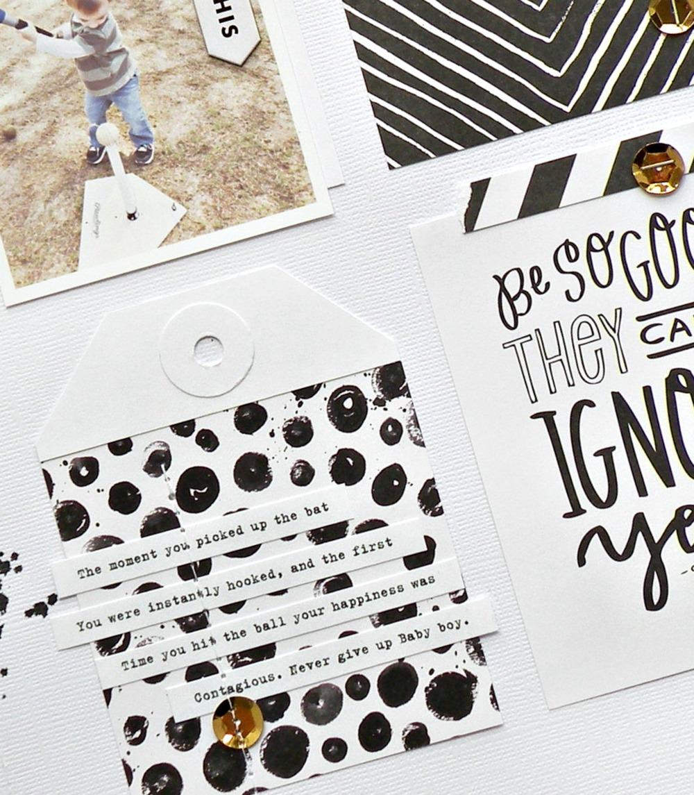 Black White Scrapbook Page Me My Big Ideas