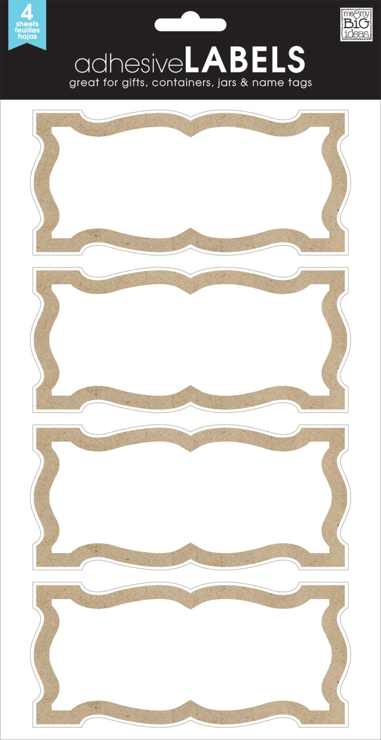LABL-12 Simple Kraft Border mambi LABELS.