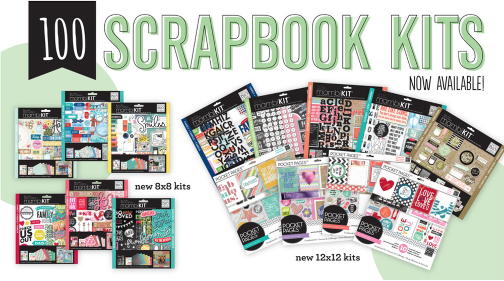 100 Scrapbook Page Kits now in the mambi SHOP!