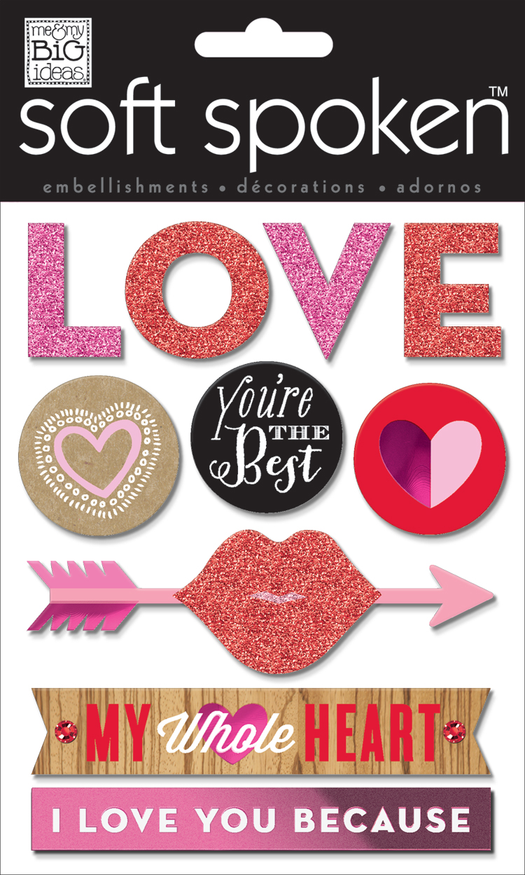 LOVE SS-1471 Valentines Day soft spoken.  me & my BIG ideas scrapbooking goodies.