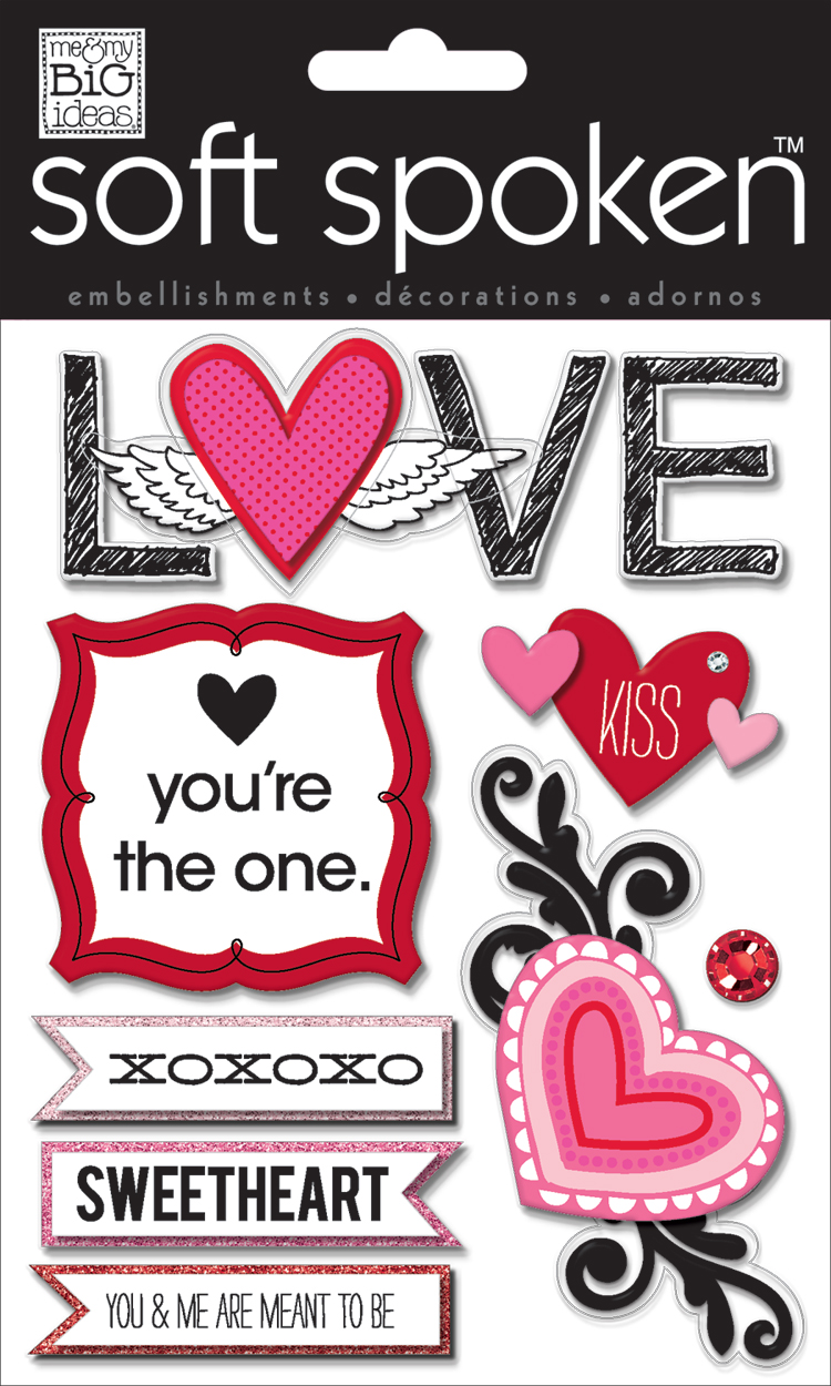 LOVE SS-1389 Valentines Day soft spoken.  me & my BIG ideas scrapbooking goodies.