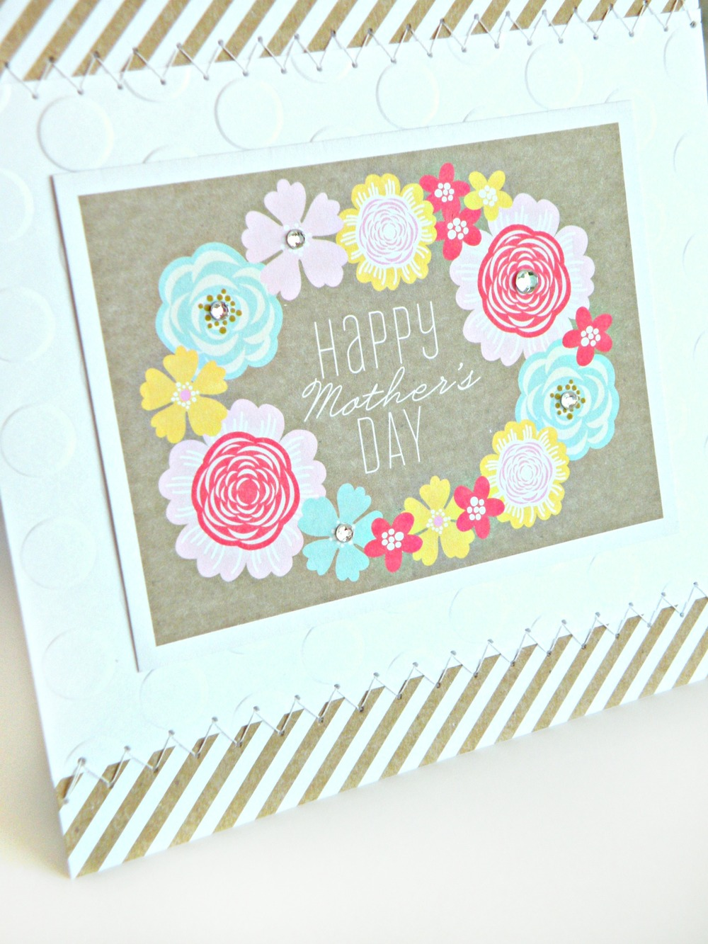 Mother's Day mambi card using me & my BIG ideas POCKET PAGES.