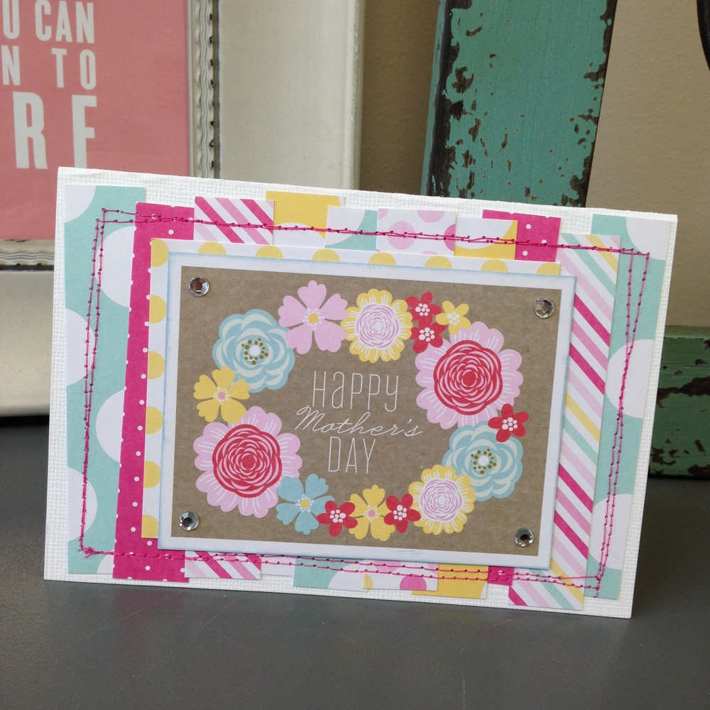 Happy Mother's Day Card on the mambi blog.  Using me & my BIG ideas POCKET PAGES cards.