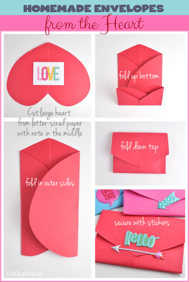 Homemade Envelopes From The Heart Me My Big Ideas