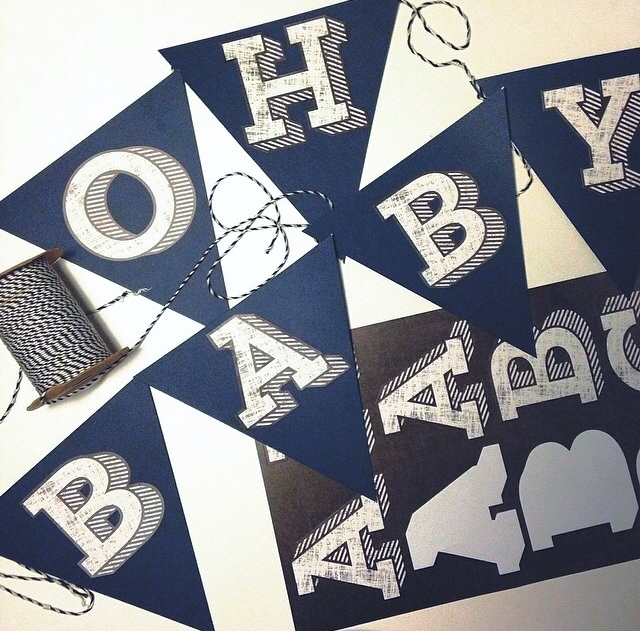 Chalkboard jumbo alphabets