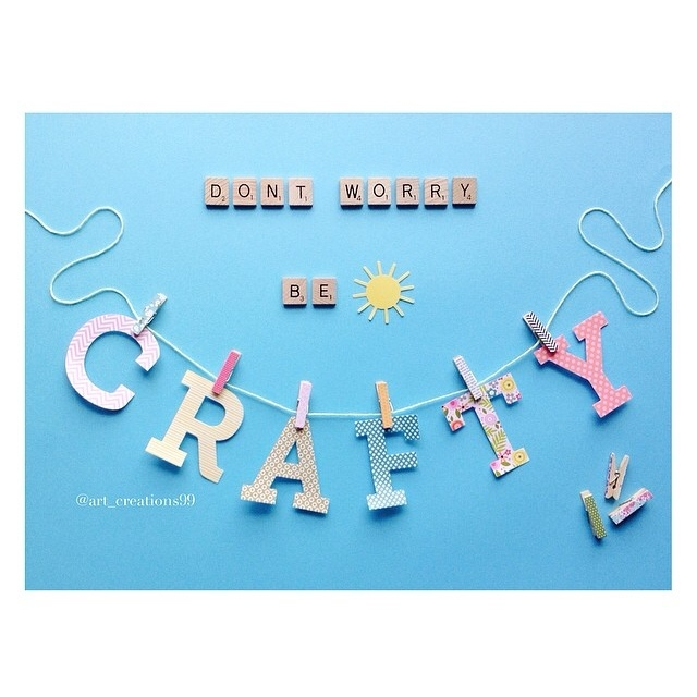 Crafty Alphabets multi colored on the mambi blog.