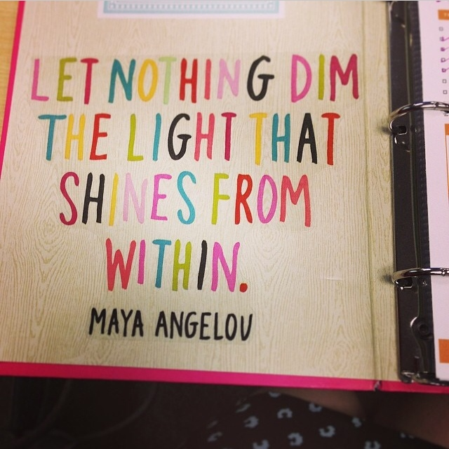 Journal decorated with inspirational sticker from the mambi JUMBO stickers line.