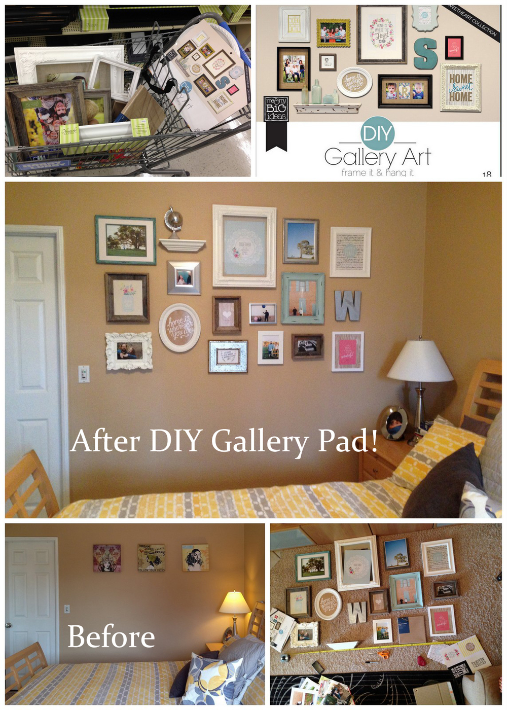 mambi DIY Wall Gallery Pads make doing a gallery wall yourself so easy!