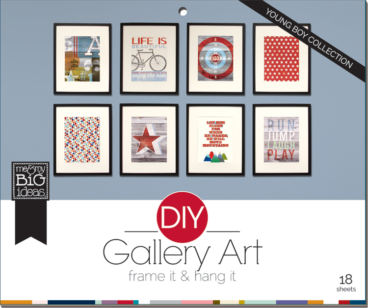 Boy DIY Gallery Pad by me & my BIG ideas.  Ideas on the mambi blog.