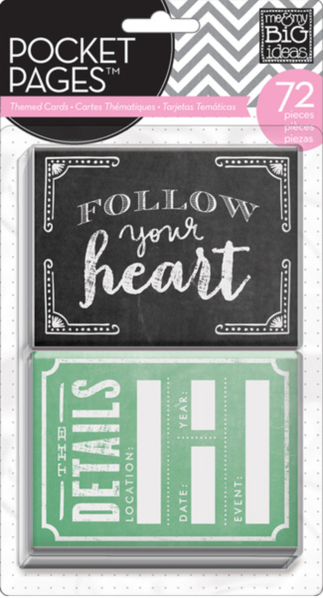 TPC-22 on the mambi BLOG.  Chalkboard pocket pages, project life style paper crafting cards.