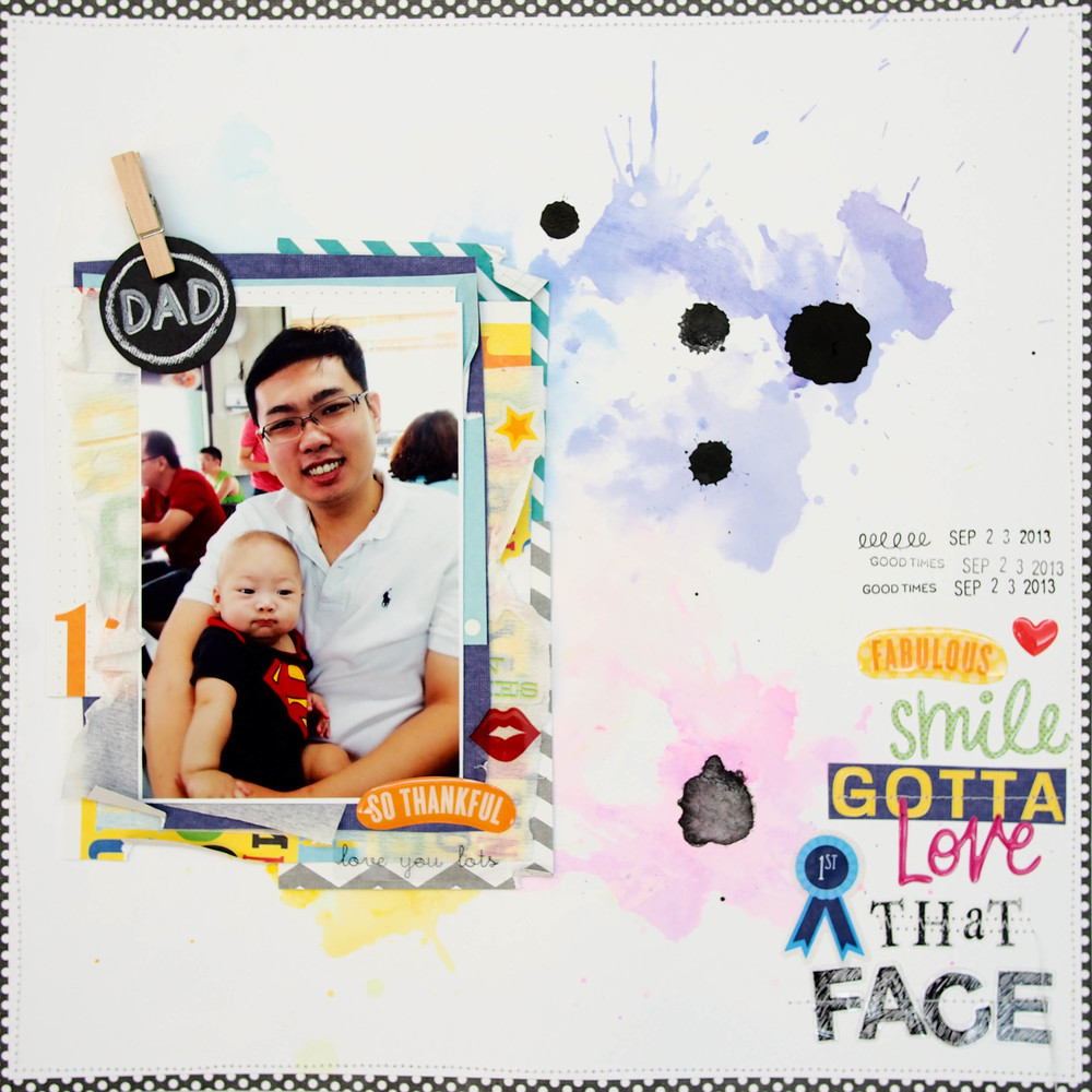 Father's Day Scrapbook Pages — me & my BIG ideas